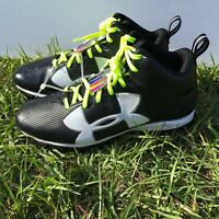 Under Armour Mens Crusher RM Football Cleats 1286600-001 Black White UA