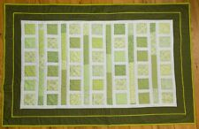 """Handmade patchwork toddler quilt """"Lilies and frogs"""". Handmade by seller"""