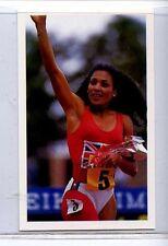 (Jj271-100) RARE Junior Trade Card of #48 Florence Griffith-Joyner Ath 1986 MINT
