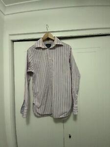 Herringbone Longsleeve Mens Button Up Top Size Medium