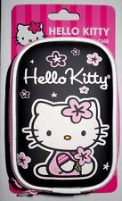 Hello Kitty Red Camera Case hard shell wristlet clam double zipper black w/strap