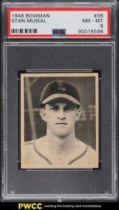 1948 Bowman Stan Musial ROOKIE RC #36 PSA 8 NM-MT