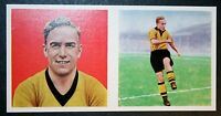Billy Wright   Wolves    Vintage Double Picture  Colour  Footballer Card # EXC