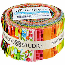 Wild by Nature Jelly Roll Pre-cut Quilt Fabric Strips by Maywood Studio