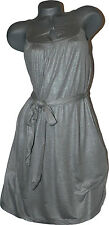 NEW SUSANA MONACO high-end designer slinky shimmery dress silver gray XS casual