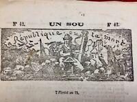 Anarchie Guillotine 1871 Père Duchêne Versailles Commune de Paris Anarchiste