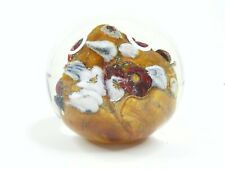 Vintage Art Glass Paperweight Artisan Signed Hat Dichoic Multi Colors