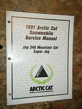 1991 ARCTIC JAG 340 MOUNTAIN CAT SUPER JAG SNOWMOBILE FACTORY SERVICE MANUAL