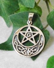 Pentagramm keltischer Knoten Amulett Anhänger 925 Silber Kelten
