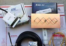WiFi Antenna  MACH1N ALFA R36+Tube Double Biquad Long Range GET FREE INTERNETNET