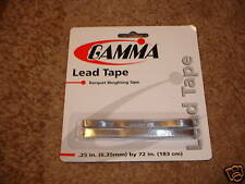 Gamma Lead Tape for Tennis Rackets or Golf Clubs