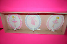 NEW BALLERINA 3 WALL HOOKS BALLET SHOES PINK PURPLE MAGGIE MILLER GIRLS ROOM