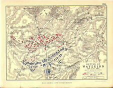Map - Battle of Waterloo 18 June 1815 - Morning