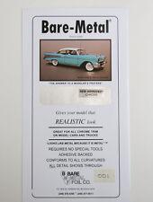 Bare Metal Foil Chrome Foil (1 Sheet) BMF001 For Chrome on Models & Masking