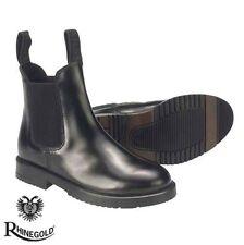 Rhinegold Childrens Classic Leather Jodhpur Boots (sizes J10-5) FREE P&P