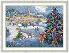 Christmas Celebration Counted Cross Stitch Kit 14 ct aida 52x40cm F Free P&P