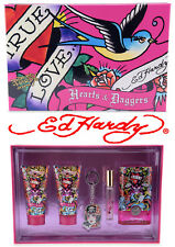 ED HARDY by CHRISTIAN AUDIGIER Hearts & Daggers Damen EDP Parfum Set UVP 75$