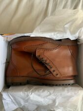 Office Men's Brown Tan Leather Boots Brogues - Size UK 11 BNIB