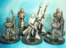 Dungeons & Dragons Miniatures Lot  City Guard Town Guard !!  s114