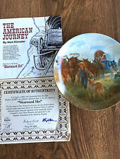 "The American Journey (1987) - ""Westward Ho!� - The Bradford Exchange Plate"