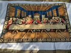 Large 48 x 73 Jesus Last Supper Rug Velvet Wall Hanging Tapestry Bright Colors