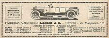 W9155 Fabbrica Automobili LANCIA & C. - Pubblicità del 1923 - Vintage advert