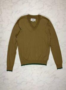 M  L Mens Vintage Retro Dark Navy Blue 1970s V Neck Sweater Pullover Jumper By Keynote UK mens Size Medium Large