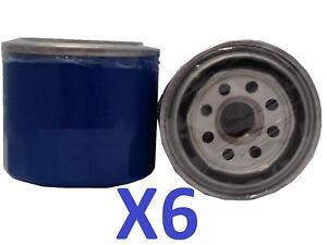 X6 Oil Filter Suits Ryco Z79 FORDLASER KE B6T1.6L 4CYL B6T Petrol 1988-1990