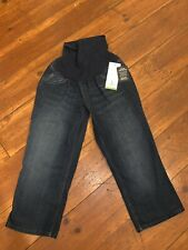 OH BABY Womens Capri Secret Fit Belly Blue Jeans M (8-10) NWT Maternity Pregnant