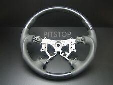 Toyota Land cruiser FJ100 FJ120 PRADO BLACK Wood leather steering wheel-SPORTS