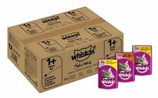 84 x Whiskas Wet Cat Food Pouches for 1+ Adult Mixed Selection in Jelly Free P&P