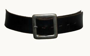 "Vintage Sportsgirl 1980s Black Genuine Leather Women's Waist Belt Size 28""/71cm"