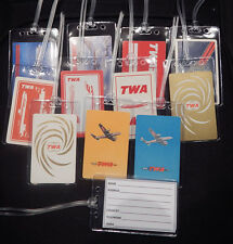 Luggage tag TWA w/playing card choose from multiple designs
