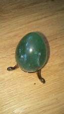 """Fluorite mineral gemstone egg Large 2"""" green and stand"""
