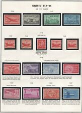 US Airmail Mint Lot From Old Time Collection 6 Pages No Reserve!