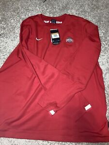 Nike Ohio State Buckeyes Red Thermal Pullover Shirt CQ5060-657, Men's XXL NWT