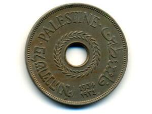 Palestine:KM-5, 20 Mils, 1934 * Key Date * EF-AU *