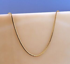 """Tiffany & Co. Snake Chain Necklace in 14k Yellow Gold Size 18"""" Long"""