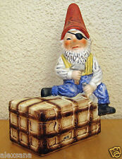 Very Rare Goebel Co-Boy Figurine Pete The Pirate Coin Bank Gnome Germany Mint
