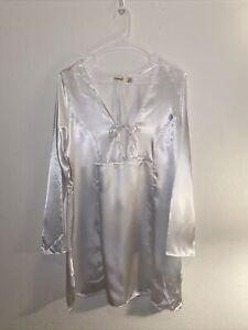 Vintage 90s Fredrick's of Hollywood White Long Sleeve Lingerie size Large