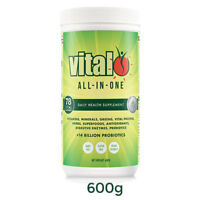 VITAL GREENS ALL IN ONE 600G TUB SUPERFOOD BLEND NUTRIENT SUPPLEMENT PROTEIN