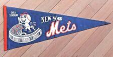 vintage 1964 New York Mets soft felt PENNANT w/ Mr. Met & Shea Stadium graphics