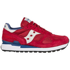SAUCONY MEN'S SHOES SUEDE TRAINERS SNEAKERS NEW SHADOW O RED D79