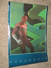 DAREDEVIL Vintage 1990 Poster SIGNED by STAN LEE ~Marvel/Movie MOEBIUS ART