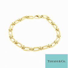 NYJEWEL Tiffany & Co. 14k Yellow Gold X Link Chain Bracelet