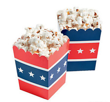 Pack of 12 - Patriotic USA Popcorn Boxes - July 4th Party Supplies