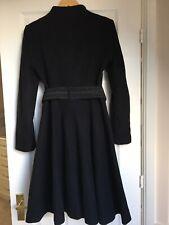 ZARA Black Very Elegant A-line Flared Coat Uk Size Small