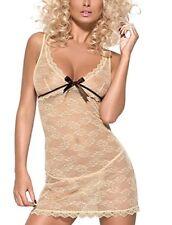 Capi d'abbigliamento intimo erotico da donna beige taglia M