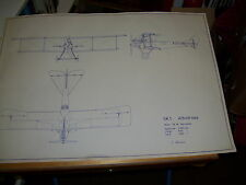 SK1 ALBATROSS THREE VIEW DRAWING by L. Ohlsson. Swedish Air Force
