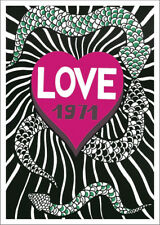 LOVE 1971 POSTER: Homage to Yves Saint Laurent Anniversary Year Reprint